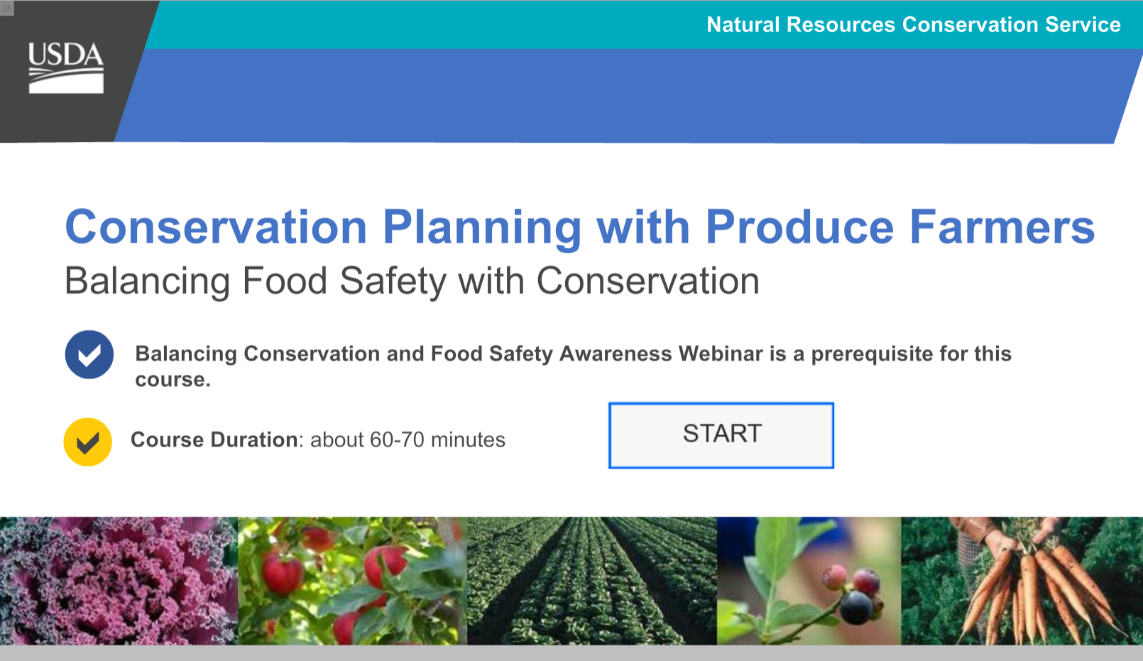 Conservation Planning with Produce Farmers